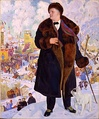 Boris Kustodiev, Portrait of Chaliapin (1921)