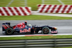 Bourdais driving for Toro Rosso at the 2009 Malaysian Grand Prix.