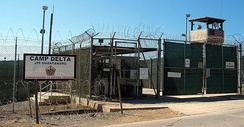 The entrance to Camp 1 in detention camp's Camp Delta