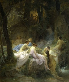 Nymphs Listening to the Songs of Orpheus (1853) by Charles Jalabert