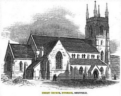 Christ Church on completion in 1850.