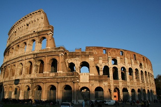 The Colosseum, the largest amphitheatre ever built,  and a most popular tourist attraction