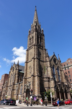 Central Congregational Church, built in 1867, now Church of the Covenant, in Boston