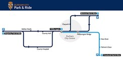 Durham City Park and Ride Map