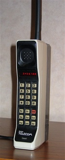 The Motorola DynaTAC 8000X. In 1984, it became the first commercially available handheld cellular mobile phone.
