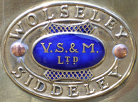 Name plate: Vickers, Sons & MaximWolseley Siddeley