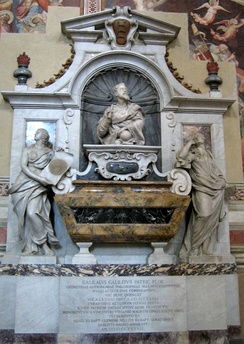 Tomb and monument to Galileo Galilei in the Church of Santa Croce in Florence.
