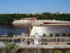 Lock and Dam No. 1, Mississippi River just upstream of the Minnesota River