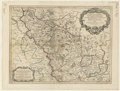 Map of the Duchy of Berg by French cartographer Nicolas Sanson in 1696.