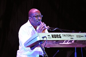 Phillinganes performing with Herbie Hancock in 2010