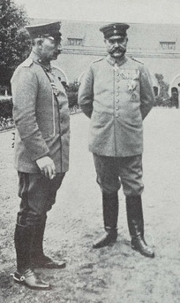 Kaiser Wilhelm II and Hindenburg