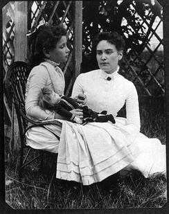 Keller with Anne Sullivan vacationing on Cape Cod in July 1888