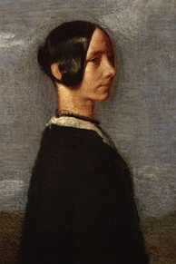 Portrait of Jane Welsh Carlyle by Samuel Laurence, c. 1852