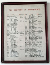 Rectors of Woolwich from 1182