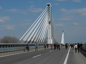 The Ferenc Móra Bridge on the M43 Motorway near Szeged