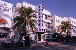 The Art Deco district of South Beach in Miami, Florida, was developed during the 1930s.