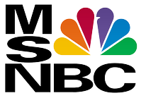 "MSNBC most well known logo used from 1996 until 2009. The ""N"" in the logo was changed from red to black in 2002. This variant has occasionally been used after 2006 as an alternative logo in a horizontal form."