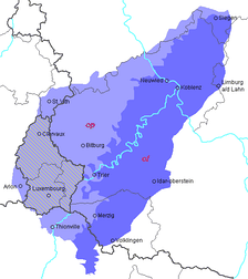 Luxembourg lies in the Moselle Franconian dialect area.
