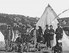 "New York state militia, Civil WarCompany ""E"", 22nd N.Y. State Militia, near Harpers Ferry."