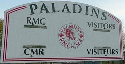 Royal Military College Paladins Bilingual (English/French) Scoreboard, inner field, Royal Military College of Canada.[9]