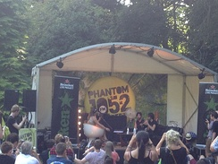 Foals being interviewed live on-air by Phantom 105.2 at 2013 Longitude Festival in Dublin.