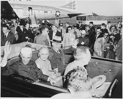 Truman and Indian Prime Minister Jawaharlal Nehru during Nehru's visit to the United States, October 1949