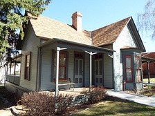 John Charles Frémont's Arizona house on display on the grounds of the Sharlot Hall Museum