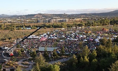 Aerial view of Santee Salutes festival in 2015