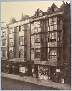 134 Aldersgate Street, Shakespeare's House - demolished in 1879