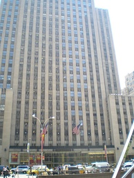 Simon & Schuster headquarters at 1230 Avenue of the Americas, Rockefeller Center, New York City