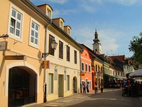 Tkalčićeva Street with many cafes, bars and restaurants of local and foreign cuisine