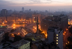 Tahrir Square in the early morning