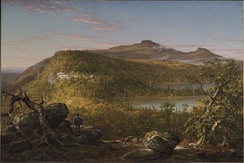 A View of the Two Lakes and Mountain House, Catskill Mountains, Morning, by Thomas Cole