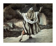 Abraham Sees Sodom in Flames (watercolor c. 1896–1902 by James Tissot)