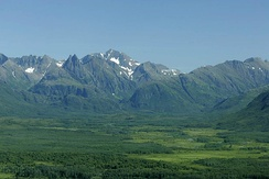 The Ahklun Mountains and the Togiak Wilderness within the Togiak National Wildlife Refuge in the U.S. state of Alaska