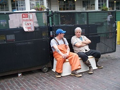 Two men taking a break during their workday