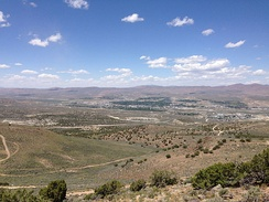 "View of Elko from ""E"" Mountain"