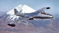 3rd Bombardment Group B-57C 53-836 by Mount Fuji about 1957