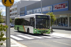 Custom Coaches bodied Irisbus Agora Line at Gungahlin Town Centre in January 2010