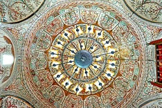 The dome of the Et'hem Bey Mosque in Tirana.