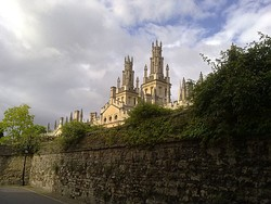 All Souls College as viewed from New College Lane