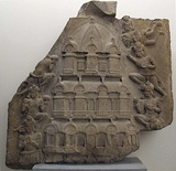 Relief of a multi-storied temple, 2nd century CE, Ghantasala Stupa.[124][125]