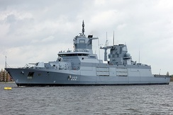 Baden-Württemberg, an F125-class frigate of the German Navy; currently the biggest frigates worldwide.