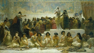 The Babylonian marriage market by the 19th-century painter Edwin Long
