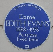 Blue plaque at Evans's home