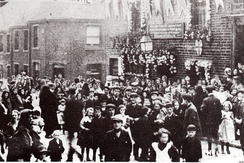 Fig. 8 Hall Lane decorated for Bowling Tide Week c1910