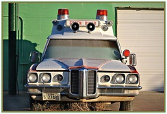Superior Coach Company ambulance body on 1970 Pontiac Bonneville commercial chassis.