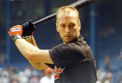 Ripken preparing for a game in 1993