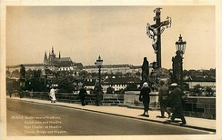 Charles Bridge and the Holy Crucifix, c. 1935