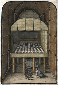 """The Tombe of their Werovvans or Cheiff Lordes,"" 1588 by Theodor de Bry"